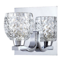 Eurofase Lighting - Eurofase Lighting 25727 Wave 1 Light Modern Bathroom Sconce with Glass Bowl Shad - Features: