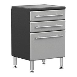 BH North America - Ulti-MATE Garage PRO Model GA-04PC - · Unique Polyurethane coated cabinet fronts in Silver