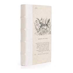 Go Home - Single Antique Vellum Book - Single Antique Vellum Book sizes may slightly vary.Place the collected written works among your library collection, upon a nightstand, or atop an occasional table in a sun room.