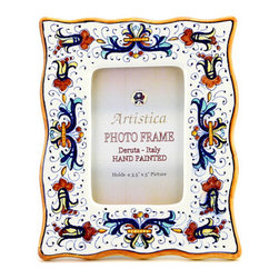 Artistica - Hand Made in Italy - Photo Frame: Ricco Deruta - Deruta Photo Frames: