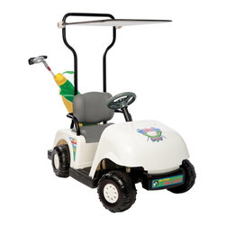 National Products - Kid Motorz Junior Pro Golf Cart Battery Powered Riding Toy - White - 0203 - Shop for Tricycles and Riding Toys from Hayneedle.com! Your child will love to play all 19 holes riding along on the Jr. Pro 6V Golf Cart Battery Powered Riding Toy White. This four-wheel golf cart is modeled after a full-size cart complete with double seat with handrails canopy and cubby for your golf bag. The golf bag clubs balls and tees are all included. About National ProductsA leading toy manufacturer and exporter in Hong Kong National Products is part of a group of four firms called the Playmind Ltd. Group. As recognized by peers the company is both a reputable and reliable working partner as well as supplier in the toy and ride-on industry. Most importantly it's not only children who have fun with National Products ride-on products; parents also appreciate the detailed life-like quality and safety of the innovative designs. National meets or exceeds all safety/quality control government guidelines.