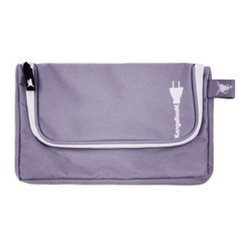 Great Useful Stuff - Personal Media Pouch Lavender - Keep your gadgets organized while you're on the go with this lovely lavender pouch. With space for three devices and chargers, plus a slim shape that's easy to slip in your weekend bag, it's a stylish solution for traveling with technology.