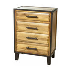 Great Deal Furniture - Glendora Wood Four Drawer Storage Dresser , Natural Stain - The Glendora Wood Dresser is the perfect storage piece to complete your bedroom decor. Made from acacia wood, this dresser features three (3) large sliding drawers and one (1) small top drawer. This chest of drawers is a wonderful organizational option for tucking away items, and the neutral color and contemporary style allows this piece to compliment almost any existing bedroom furniture.
