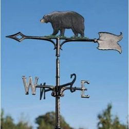 "Whitehall Products LLC - 30"" Bear Weathervane - Garden Black - • Color: Black"