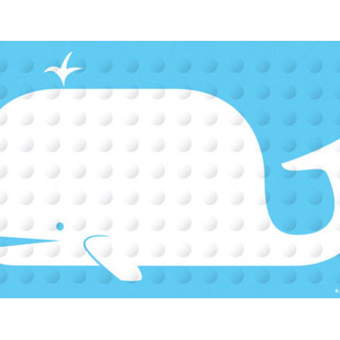 Rubber Bath Mat, Whale - Safety first! Dress up your tub with this natural rubber bath mat. It will keep you safe from slips and add a jolt of whimsy to your shower.