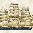 Clipper Ship - By Tim Coffey: