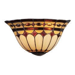 Elk Lighting - Elk Lighting 08032-BC Diamond Ring Traditional Wall Sconce in Burnished Copper - Elk Lighting 08032-BC Diamond Ring Traditional Wall Sconce in Burnished copper