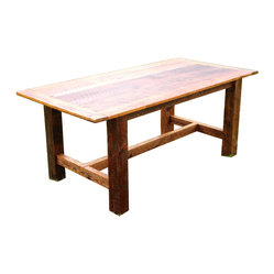 The Rusted Nail LLC - Dining Room Table - Do you love vintage furniture but fear repairing and refinishing it? This dining table is handcrafted from time-weathered wood, salvaged from old Georgian barns, so it looks rustic, but features new, durable construction.