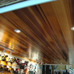 Cedar Lam by Cedar Valley - Cedar Lam by Cedar Valley installed in an interior ceiling and finished with a clear gloss to highlight the natural beauty of the clear, vertical grain western red cedar.