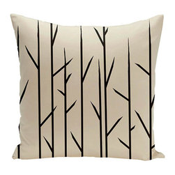 e by design - Branches Beige 16-Inch Cotton Decorative Pillow - - Decorate and personalize your home with coastal cotton pillows that embody color and style from e by design  - Fill Material: Synthetic down  - Closure: Concealed Zipper  - Care Instructions: Spot clean recommended  - Made in USA e by design - CPO-NR7-Oatmeal-16