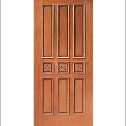 Carved and Mansion Entry Doors Model # 9 - Our Carved and Mansion doors are hand carved by master craftsman.  They will certainly add to the wow factor of any entrance exterior or interior.  The doors are Mahogany and can be stained and finished in a variety of colors to complement your homes beauty.  You may also like our International collection which is inspired by world design.