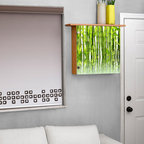 Lighted wall decor- color changing lights - Add ambiance to any room with this illuminated wall box with ledge on top