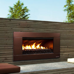 ESCEA - ESCEA Outdoor Gas Florentine Bronze Fireplace - Ferro Front (On Sale), W/ Fuel B - This stunning looking outdoor gas fireplace with a florentine bronze Ferro fascia is constructed for immediate huge heat output at the push of a button. The most modern gas fireplace in North America is made from 100% marine grade stainless steel suitable for all outdoor conditions. Entertaining all night or just relaxing after a day at work, the luxurious EF5000 outdoor gas fireplace is ideal for any occasion.