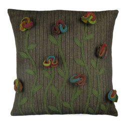 Homespice Decor - Homespice Decor Poppy Throw Pillow Multicolor - 211538 - Shop for Pillows from Hayneedle.com! Vintage reproductions often fall flat but not the vividly three-dimensional Homespice Decor Poppy Throw Pillow. An authentically groovy color palette and creative dimensional texture makes these poppies trippy yet earthy and refined. This is a conversation piece for sure.About Homespice DecorProducing quality homemade products since 1998 Homespice Decor has become an industry leader in braided rugs (outdoor indoor wool cotton) and has expanded its line to include penny rugs rag rugs and its newest - Supernova rugs - which feature a swirling star braid design. Formerly known as J Quilts Company Homespice Decor shifted its focus from quilts to rugs pouring itself into the intricate details of braided rug craftsmanship. Homespice Decor is committed to providing affordable braided rugs of the highest quality in an abundance of sizes and styles.