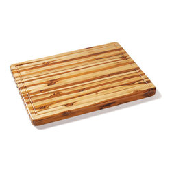 Proteak - Proteak Edge Grain Teak Carver with Juice Groove  20x15x1.5 - A teak carver from Proteak. Made of teak harvested from Mexico. 24 by 18 inches. Includes a juice groove running its full perimeter. Reversible. Hand grips.