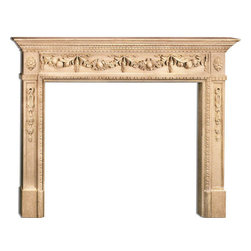 "Inviting Home - Charlotte Medium Fireplace Mantel - Charlotte medium fireplace mantel overall - 64-1/2""W x 53-3/4""H opening - 50""W x 40""H shelf - 70-1/2""W x 7-1/2""D Wood fireplace mantels are hand-carved from premium selected hard maple. Fireplace mantels come unfinished finely sanded ready to accept any stain to match you surrounding woodwork. Classic gracious design of the wood fireplace mantels speaks gently of understated elegance and undeniable refinement."