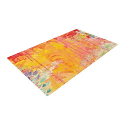 "Kess InHouse - Ebi Emporium ""Sun Showers"" Woven Area Rug (48"" x 72"") - Splash your floors with artwork! That's right, I said your floors. With these woven polyester jacquard area rugs adding a splash or pop of artwork is a breeze. Use it in just about any room, even the bathroom! These woven area rugs will leave all of your guests envious as they walk through your artistic home!"