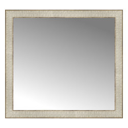 """Posters 2 Prints, LLC - 26"""" x 24"""" Libretto Antique Silver Custom Framed Mirror - 26"""" x 24"""" Custom Framed Mirror made by Posters 2 Prints. Standard glass with unrivaled selection of crafted mirror frames.  Protected with category II safety backing to keep glass fragments together should the mirror be accidentally broken.  Safe arrival guaranteed.  Made in the United States of America"""