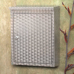 Metropolis Locking Wall-Mount Mailbox - With its progressive swirl pattern, this trendy stainless steel mailbox is made with the utmost attention to detail. Its durable construction gives it unparallelled resistance to the elements.