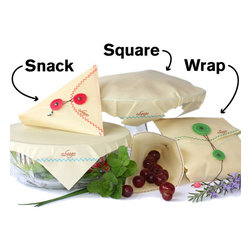 Reusable Food Storage Wraps - I want to shout from the rooftops about this product. I love everything about these, from their sizes down to their cute stitching and closures.