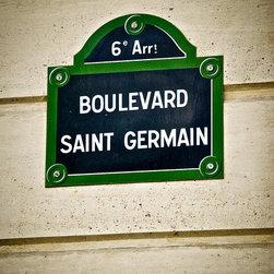 Boulevard Saint Germain, Fine Art Photography Print, 8X12 - Taken April 2012, Paris, France