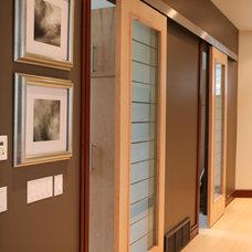 Contemporary Interior Doors by Leslie Schofield Design