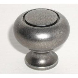 Top_Knobs - Top Knobs - Ring Knob 1 1/4 Inch - Pewter - M598 - Normandy Collection, Brass Base Material,  Weight: 0.23 Lbs