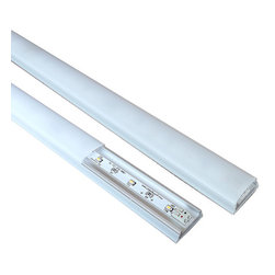 """Task Lighting Corp - Sempria G2 LED 15 volt DC 1/2 watt lighting, Gray, 6"""", 3000 Kelvin - Available in sizes from 6 to 72 inches and color temperatures of 2700 Kelvin or 3000 Kelvin. The 2700 Kelvin is considered warm or more toward the yellow spectrum, like the light bulbs in your house. The 3000 kelvin is neutral white. Ideal for under cabinet lighting, cove lighting and display lighting. You will also need to order the appropriate driver to power them based on the total wattage of the units you order. Click on Sold By Lumens Lighting & Power LLC and search for Sempria Drivers in our products. These are also dimmable if you purchase the wireless dimmer switch and wireless receiver. Search for Sempria Dimmer & Receiver in our products."""