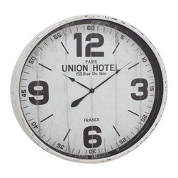 Classic Metal Wall Clock - Description: