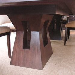 Long Dining Table- Base View - Designed by Marishka Bachman