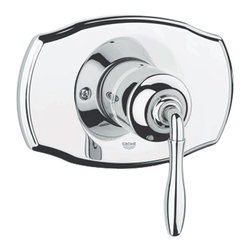 Grohe - Grohe 19708000 Pressure Balance Valve Trim With Lever Handle In Starlight Chrome - Grohe 19708000 from the Seabury Faucet Collection recreates the elegance of classical influences while providing modern levels of reliability and function. The Grohe 19708000 is a Pressure Balance Valve trim with lever handle With a dazzling and highly reflective Chrome finish.