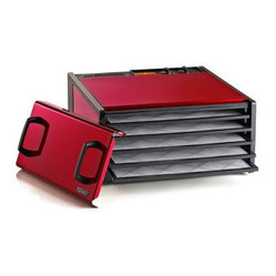 Excalibur D500RC 5-tray Food Dehydrator with Timer, Radiant Cherry
