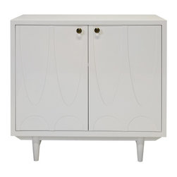 Worlds Away - Worlds Away - Irving 2 Door Cabinet - Irving, White - Worlds Away - Irving 2 Door Cabinet In White Lacquer - IRVING WH