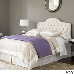 Fashion Bed Group - Fashion Bed Saint Lucia King/Cal King-size Upholstered Headboard - Add a classic touch to your bedroom with this choice of ivory or charcoal headboard from Fashion Bed Group.