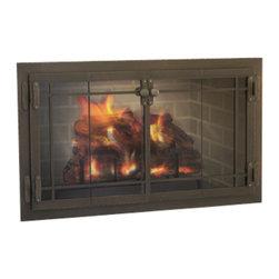 Craftsman Premier Design Fireplace Glass Door - Custom Product -