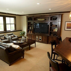 contemporary family room by Stonewood, LLC