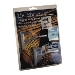 "Expo Design Inc - The Shelf Clip for 3/8""-1/2"" thick shelves, Frosted Chrome - For 3/8""-1/2"" thick shelves (usually glass, plastics, corian TM). Simple one piece design supports a shelf with a cantilevered arch. Installs any shelf up to 12� deep with just 2 screws! Strong, extruded aluminum supports up to 80lbs also available in kits, pre packed with glass shelf."