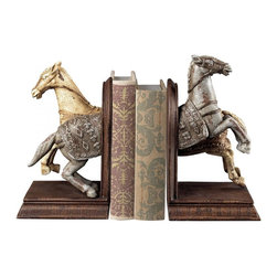 Sterling Industries - Knights Horse Bookends - Knights Horse Bookends