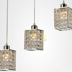 3 lights Crystal Pendant Lighting
