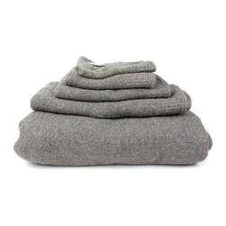 Eliana Towel - The delicate weave of our Eliana Towels resembles wool, but is made of absorbent cotton. Perfect for the master or guest bathroom, this neutral-colored towel will look great on any rack.
