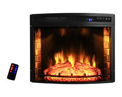 """AKDY - AKDY AG-ZEF0628R Wall Mount Electric Fireplace, 28"""" - GV's high performance free standing electric stoves offer the instant ambiance of a traditional fireplace experience. Each of our free standing electric fireplaces provide quiet, instant heat and eye-catching design. You will find electric stoves with both classic and traditional designs that will complement many decors. Our electric fireplaces are ideal for condominiums, lofts, apartments or single homes. Simply plug in and enjoy the warmth and realistic flame of your new fireplace anywhere in your home. The 3-D flame technology provides you with a realistic flame that can be enjoyed year round with or without heat. Our electric fireplace stoves plug into any standard outlet and move easily from one room to another."""
