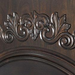 Heritage Collection (Custom Solid Wood Doors) - Custom Hand-Carved Panel on Custom Mahogany Wood Door