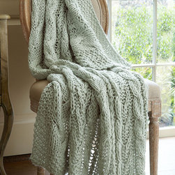 Cable Knit Throw - Cable knit isn't just for sweaters anymore! Our exclusive Soft Surroundings Cable Knit open-weave Throw is as soft and touchable as your favorite wearable knitwear.
