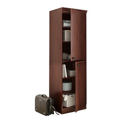 South Shore - South Shore Morgan Narrow Storage Cabinet in Royal Cherry - South Shore - Storage Cabinets - 7246973 - This storage cabinet is both stylish and practical perfect for all storage needs in tight spaces. Thanks to its Transitional style it works well in any room whether it is the office bedroom basement or even the garage.