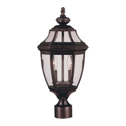Savoy House Lighting - Savoy House Lighting Endorado Traditional Outdoor Post Lantern X-31-794-5 - From the Endorado Collection, this traditional styled Savoy House Lighting outdoor post lantern is ideal for those looking to add to their traditional outdoor lighting scheme. The classic lantern shape has been complimented by classic clear glass panels and the frame is available in three different finishes, allowing for a more customized post light.