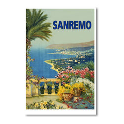 PosterEnvy - Sanremo, Italy - NEW Vintage World Travel Reproduction Poster - Sanremo, Italy - NEW Vintage World Travel Reproduction Poster