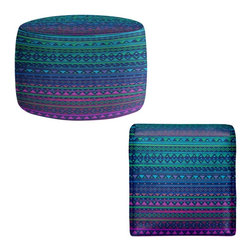 DiaNoche Designs - Ottoman Foot Stool by Nika Martinez - Summer Nights - Lightweight, artistic, bean bag style Ottomans. You now have a unique place to rest your legs or tush after a long day, on this firm, artistic furtniture!  Artist print on all sides. Dye Sublimation printing adheres the ink to the material for long life and durability.  Machine Washable on cold.  Product may vary slightly from image.