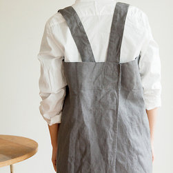 Cross Apron, Slate Gray - I'm most likely not going to clean the bathroom in this lovely crisscross apron from Fog Linen, but it seems perfect for doing the dishes.