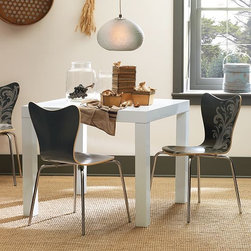 Parsons Dining Table - The table at its most essential: sleek and chic, in a four-seat square or six-seat rectangle.