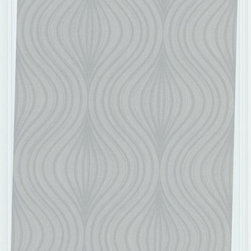 Graham and Brown - Zara Wallpaper, Gray - Opulent without being overwhelming. This subtle, yet mesmerizing wallpaper features a repeating geometric pattern that'll look lovely on any wall of your home. The registered emboss technique gives the image a raised effect.